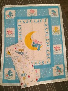 Vintage Care Bears crib set
