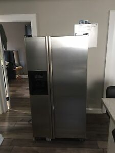 Stainless double door fridge