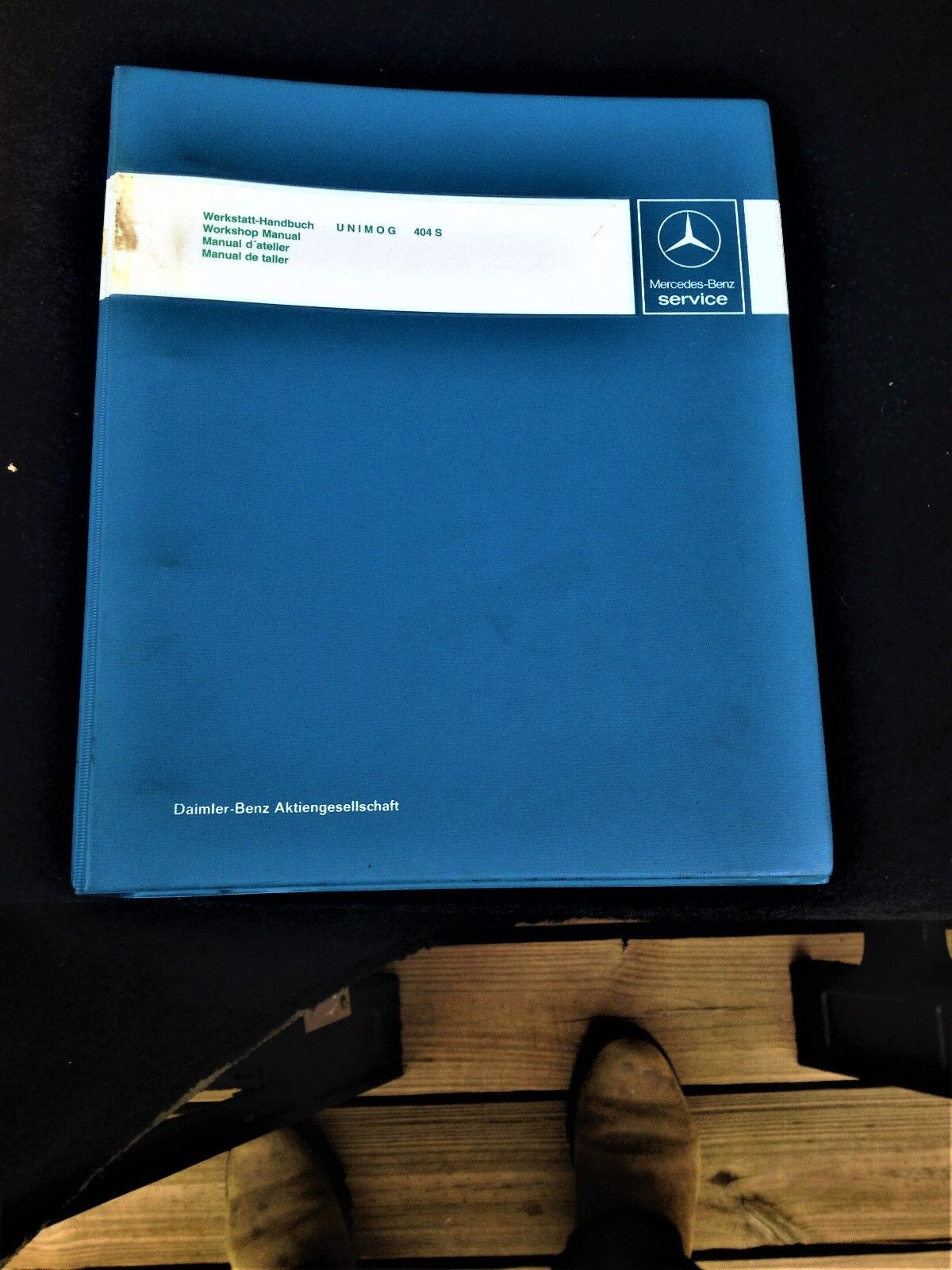 Mercedes Benz Workshop manual f. Unimog 404. factory 4 ring binder, in German
