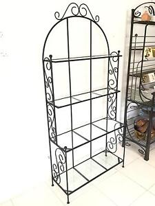 Forged Iron Bakers Rack - Book Shelf Ascot Park Marion Area Preview