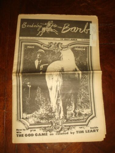 "BERKELEY BARB Vol 8 No 7 FEBRUARY 1969 High Priest TIMOTHY LEARY ""THE GOD GAME"""