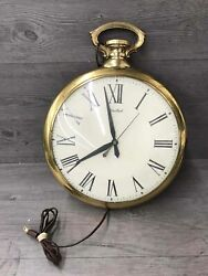 Vintage Large United Pocket Watch Wall Clock