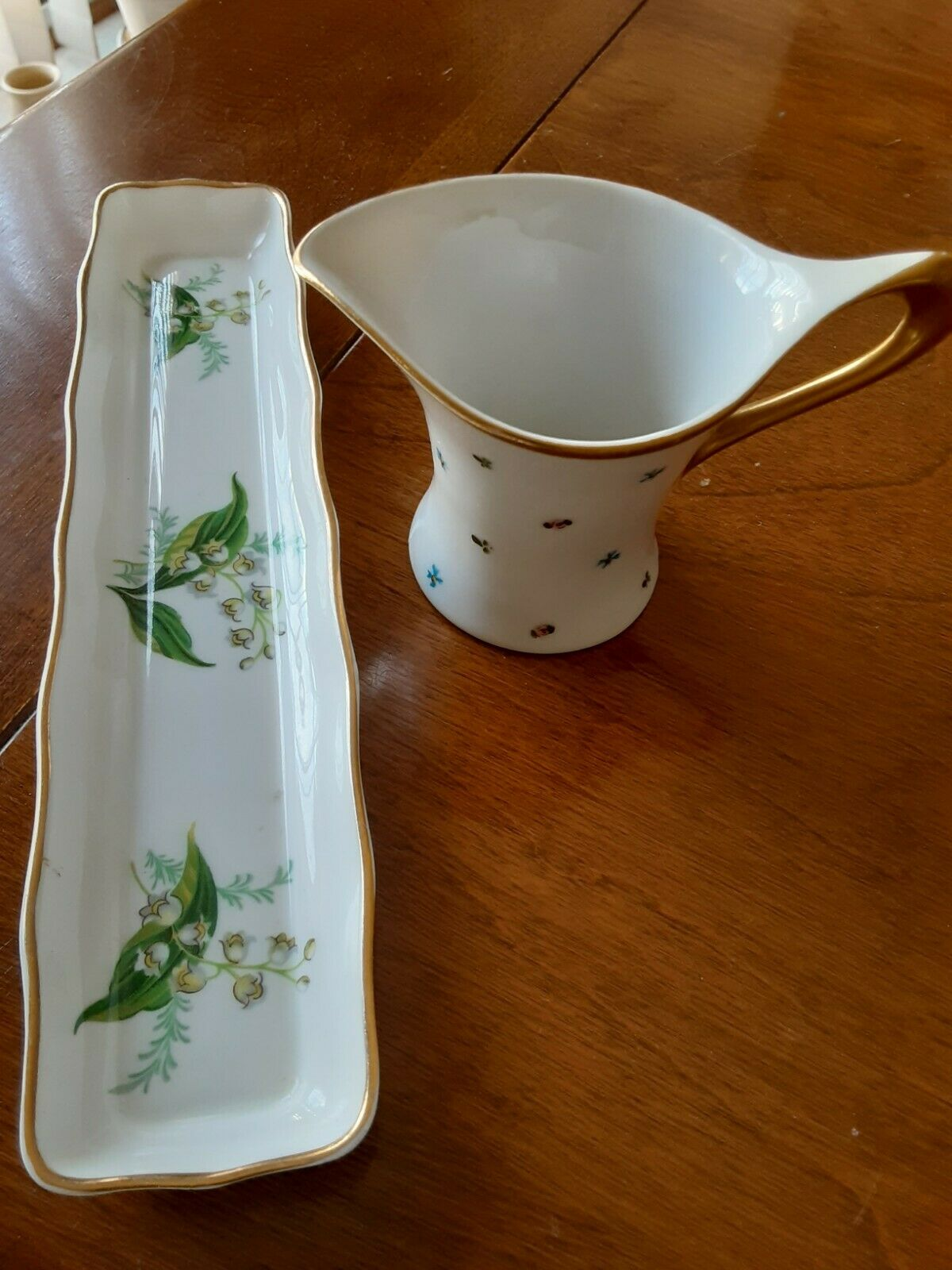 Hammersley 7 Long Dish And Small Pitcher Japanese - $10.00