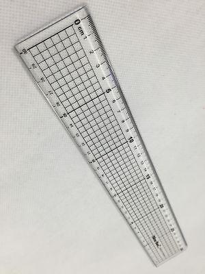 DIY Schneidelineal Lineal mit Stahlkante 30 cm, ideal für Patchwork Cutter
