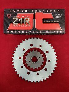 HONDA CBR1100XX SPROCKET & JT Z1R X-RING CHAIN SET/KIT 17/45 97-03 SLV