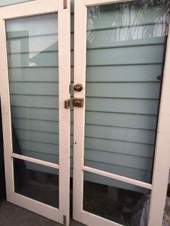 Double glass doors & Glass / Aluminium Auto Double Door | Building Materials | Gumtree ...