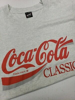 RARE! Vintage Coca Cola 90s Single Stitch T-Shirt Mens L Best Tag 50/50 USA Made