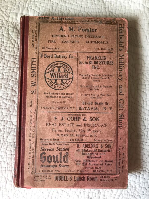 Batavia NY 1923 City & Town Directory ~ Includes East Pembroke Village