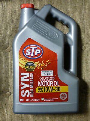 Best Anti-Wear Additives STP SYN 10W-30 High Mileage Full Synthetic Oil 5