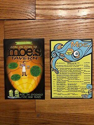2 moe. Concert Handbills Poster Halloween & Summer Tour 2002 Jamband Simpsons