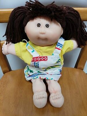 Cabbage Patch Girl Doll - Brown Hair in Pigtails