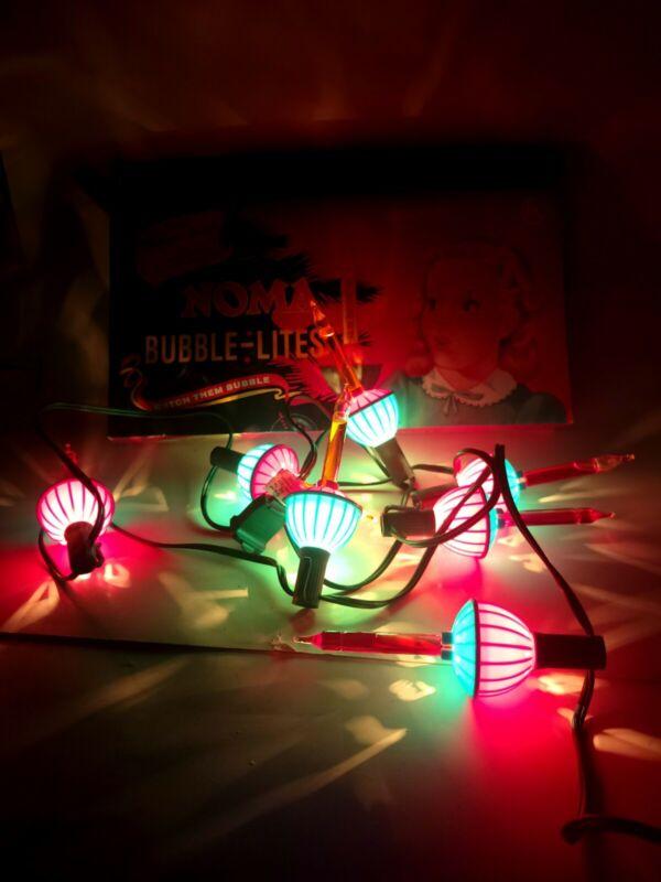 NOMA Christmas Bubble Lites Nostalgia Series String of 7 Lights in Box