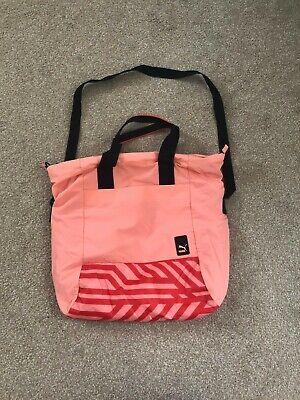 PUMA sports tote bag orange color shoulder bag Excellent condition