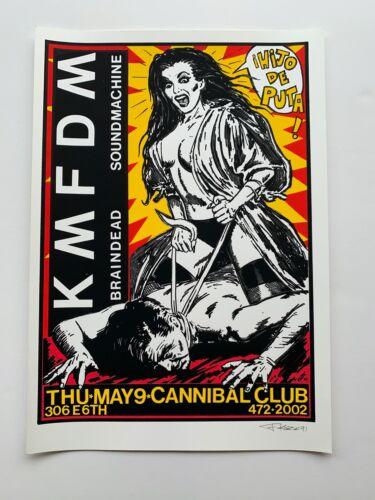 Signed Frank Kozik KMFDM Original Concert Poster