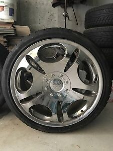 "20"" BOSS Motorsport Rims for sale with slightly used tires"