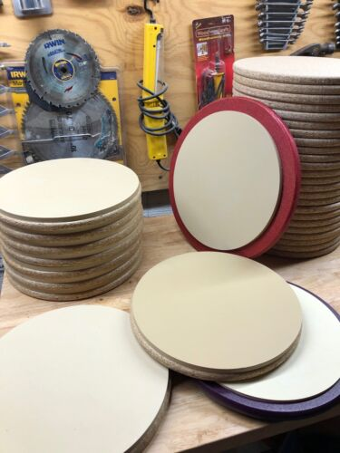 Marching Drum Pad Kit #2: Gum Rubber Disc, Wood Base, Instructions