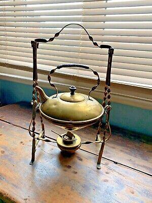 ANTIQUE arts & crafts BRASS SPIRIT KETTLE tipper pot aesthetic movement Dresser