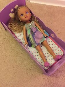 "14"" doll with bed"