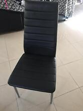 6 seater fake leather dining set Geelong Geelong City Preview
