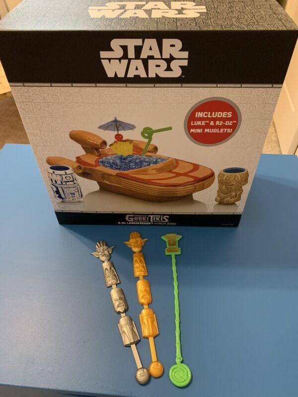 Star Wars Landspeeder Tiki Mug Bowl Set - Luke Skywalker R2D2 + SHAG Swizzles