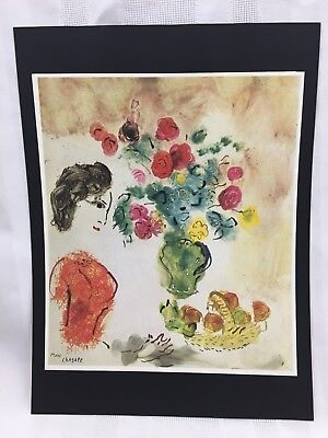 "MARC CHAGALL-PROFILE PORTRAIT OF VAVA IN A RED BLOUSE-JAPAN-9.5"" x 12.75"" PRINT"