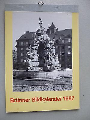 Brünner Bildkalender 1987 Brünn Mähren Tschechien Kalender Südmähren