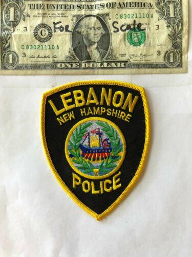 Lebanon New Hampshire Police Patch un-sewn in mint shape