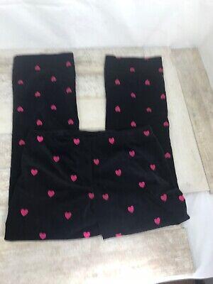 Lilly Pulitzer Black Velvet Heart Embroidered Pants Black Red Women's Sz 10 ECU