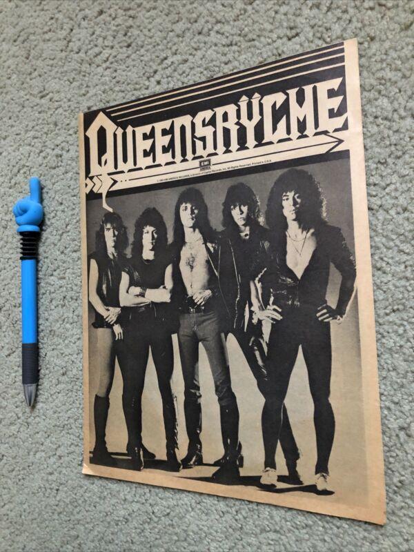1983 Queensryche EMI Promo Foldout Original