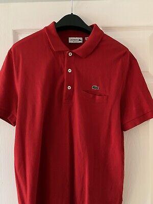 Lacoste Polo Shirt Size 5 L
