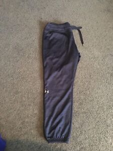 One pair of under armour sweatpants (women's size large)