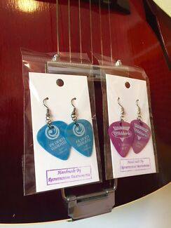 Guitar Pick Earrings created by Resurrection Instruments