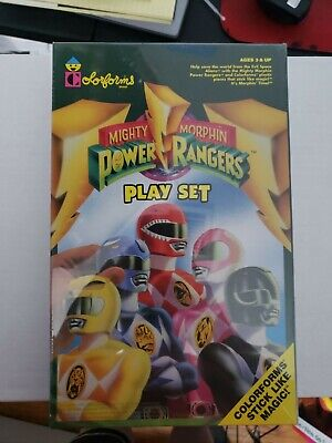 VINTAGE 1993 NEW POWER RANGERS COLORFORMS PLAY SET - MIGHTY MORPHIN SABAN TOY