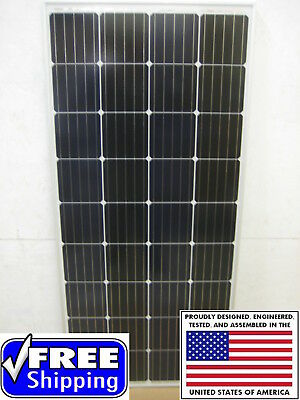 1- 200  Watt 12 Volt Battery Charger Solar Panel Off Grid RV Boat 200 watt complete