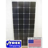 1- 200  Watt 12 Volt Battery Charger Solar Panel Off Grid RV Boat 200 watt total