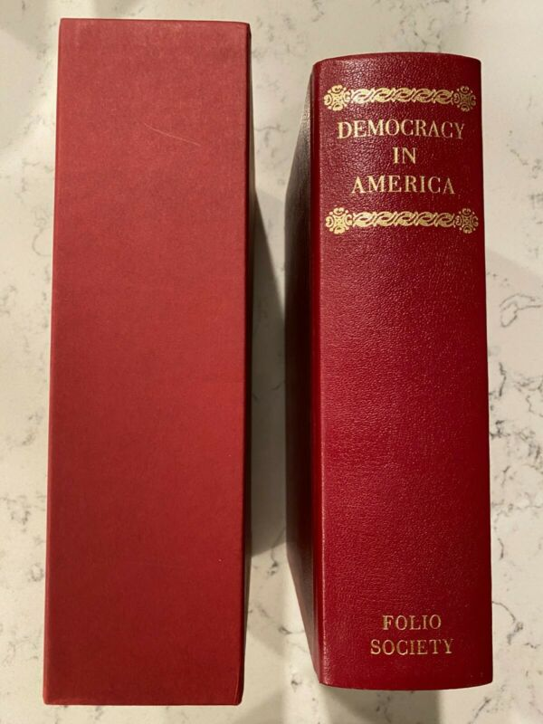 Folio Society Democracy in America Alexis de Tocqueville w/slipcase Near Mint