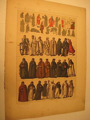 Römisch Kirch 5 Bilder von 1891 Kleidung,Geräte,Kostüm-Antique picture from - Römischen Kostüm Bilder