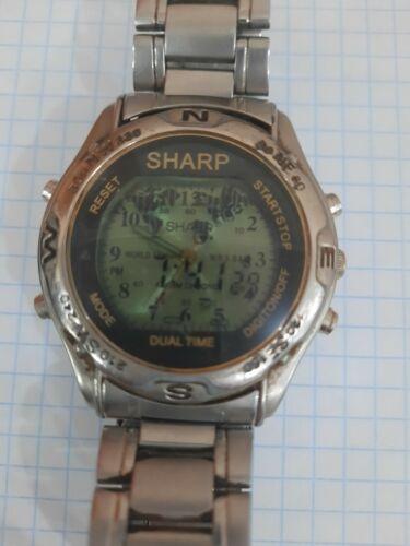 Old Digital Watch Sharp HO 468 Quartz Men
