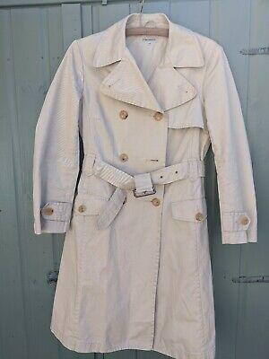 J&M Davidson Trench Coat Cotton Size 12