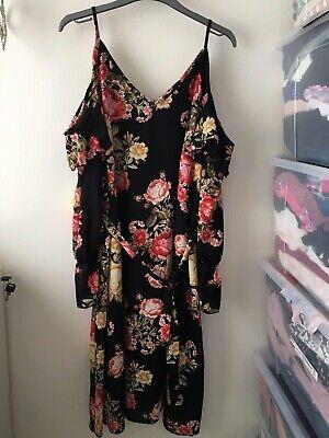 Floral Cold Shoulder Dress Size 14
