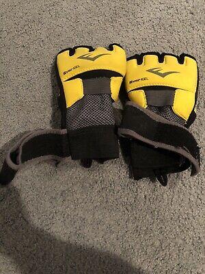 Everlast EverGel Glove Wraps Boxing Training Large Yellow / Black Model