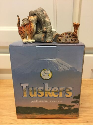"""Tuskers """"Love is a Friend"""" figurine, retired, rare 90849, NOS"""