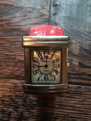 (Geneva Platinum Ladies Cuff Bangle Bracelet Quartz Watch # 6530)