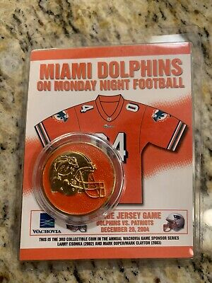 Miami Dolphins vs New England Patriots Collectible Coin December 20, 2004 - NEW