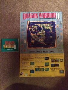 Rare Dragon Warrior 2,3 and 4 Maps with Manuals London Ontario image 1