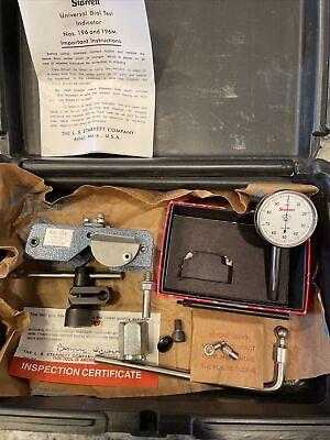 New Starrett No. 196 .001 Dial Test Indicator .200 Travel Wmagnet Base
