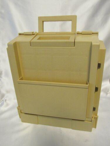 Vintage Sewing Box 1983 World Wide Media Folding Storage Caddy Spool Thread