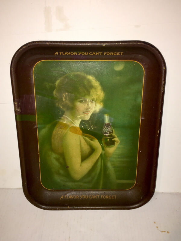 AUTHENTIC NU-GRAPE GIRL ADVERTISING SERVING TIN TRAY