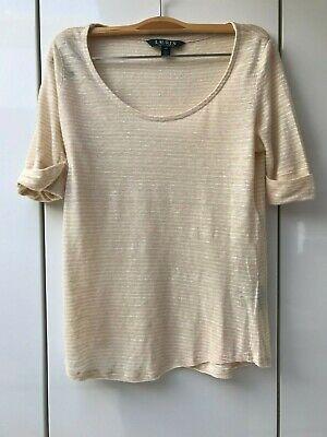 Tee-shirt beige Ralph Lauren - Taille XS (A)