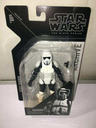 Hasbro Star Wars The Black Series Archive BIKER SCOUT   dented bubble read